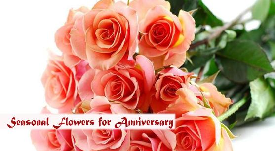 Seasonal flowers for anniversary flower gift ideas
